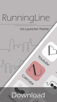 Running Line GO Launcher Theme poster