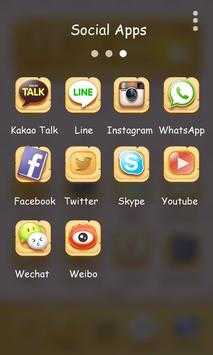 Rabbit And Fox GOLauncherTheme apk screenshot
