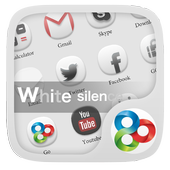 White Silence GOLauncherTheme icon