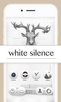 White Silence GOLauncherTheme poster