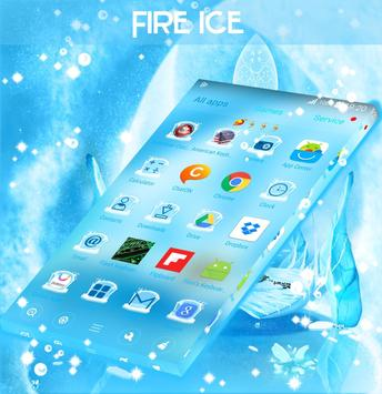Fire And Ice Theme Launcher poster