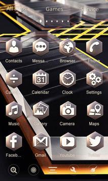 Glass 3D GO Launcher apk screenshot
