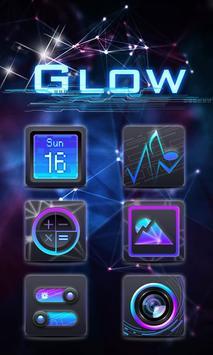 GLOW GO Launcher Theme poster