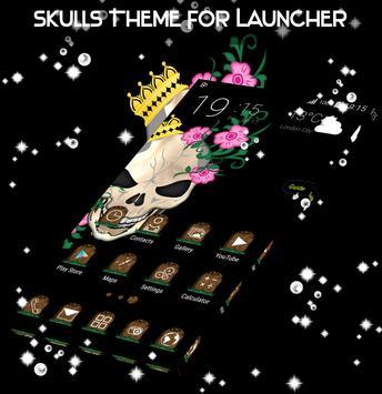Skulls Theme For Launcher screenshot 1