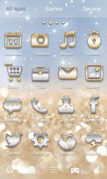 Gold & Silver GOLauncher Theme apk screenshot
