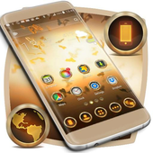 Gold Butterfly Theme icon