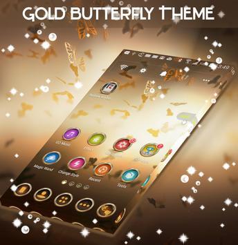 Gold Butterfly Theme apk screenshot