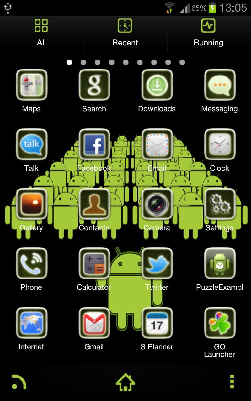 Green Army GoLauncher Ex Theme For Android APK Download