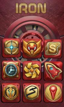 Iron Design Launcher Theme apk screenshot