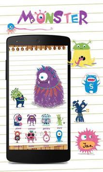 Lovely Monster GoLauncherTheme poster