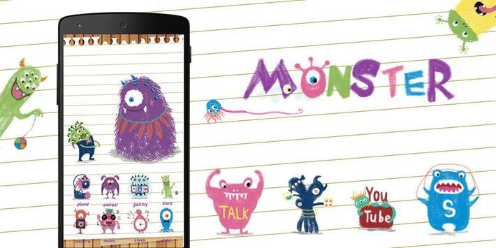 Lovely Monster GoLauncherTheme apk screenshot