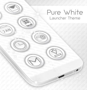Pure White Launcher Theme screenshot 3