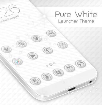 Pure White Launcher Theme poster