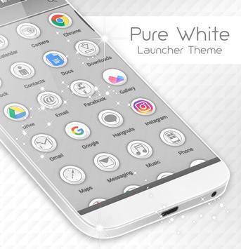 Pure White Launcher Theme screenshot 1