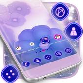 Purple Launcher Flowers icon