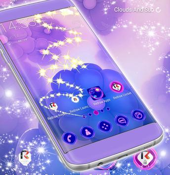 Purple Launcher Flowers apk screenshot