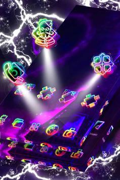 Paris in Neon Launcher Theme screenshot 1
