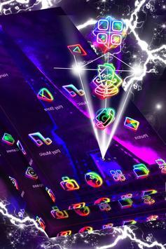 Paris in Neon Launcher Theme screenshot 2