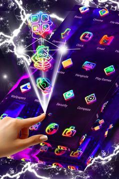 Paris in Neon Launcher Theme screenshot 4