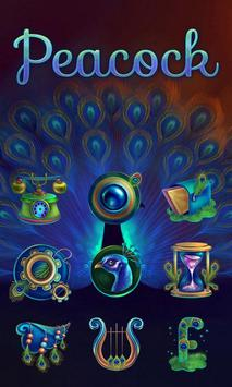 Peacock GO Launcher apk screenshot