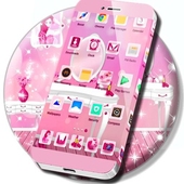 Cute Girly Pink Launcher icon