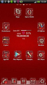 Red GO Launcher EX theme poster