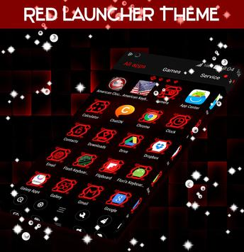Red Launcher Theme poster
