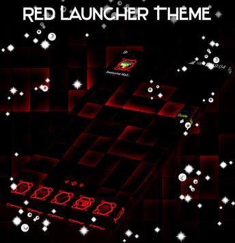 Red Launcher Theme screenshot 2