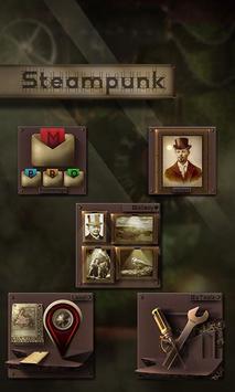 Steampunk Design Launcher Theme apk screenshot