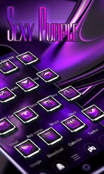SEXY PURPLE  GO Launcher Theme poster