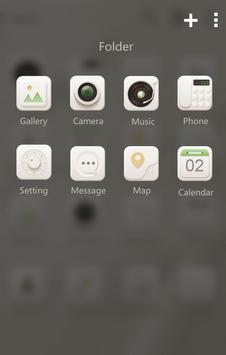 Soft cream GO Launcher Theme apk screenshot