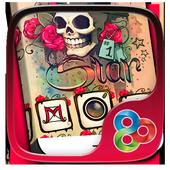 Skull Tattoo Launcher Theme icon