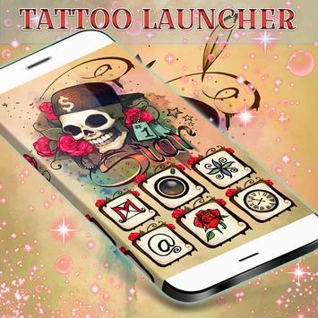 Skull Tattoo Launcher Theme poster