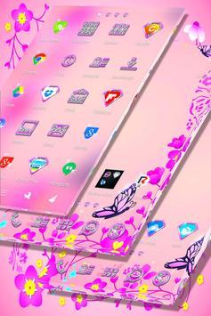 Pink Flower Launcher screenshot 4