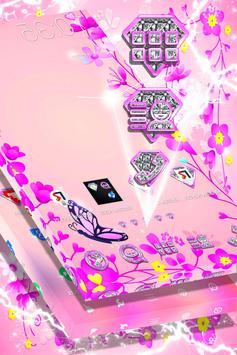 Pink Flower Launcher apk screenshot