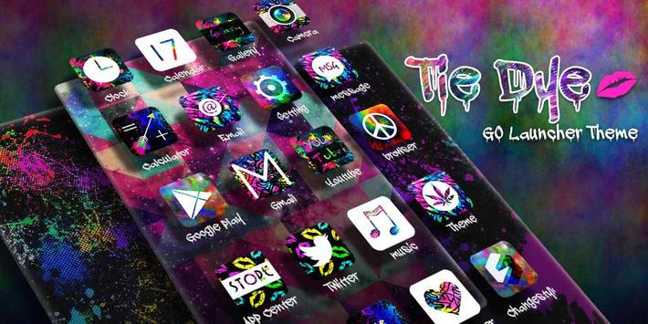 Tie Dye GO Launcher Theme apk screenshot