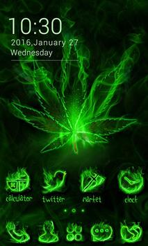 Weed Rasta GO Launcher Theme Poster