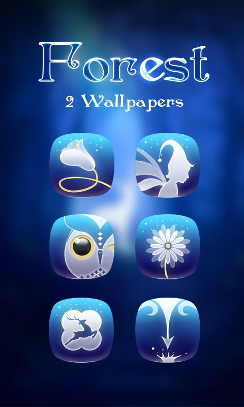 Forest GO Launcher Theme Poster Apk Screenshot