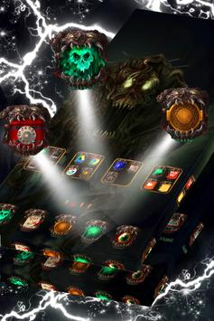 Scary Zombie Launcher Theme apk screenshot