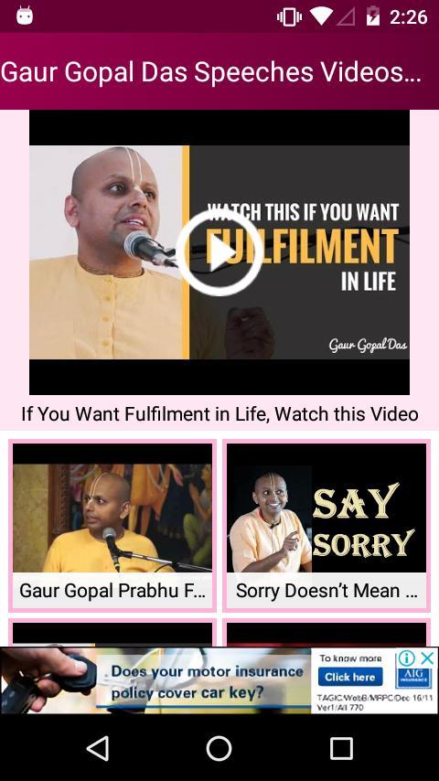 Gaur Gopal Das Speeches Videos App - Motivate Life for