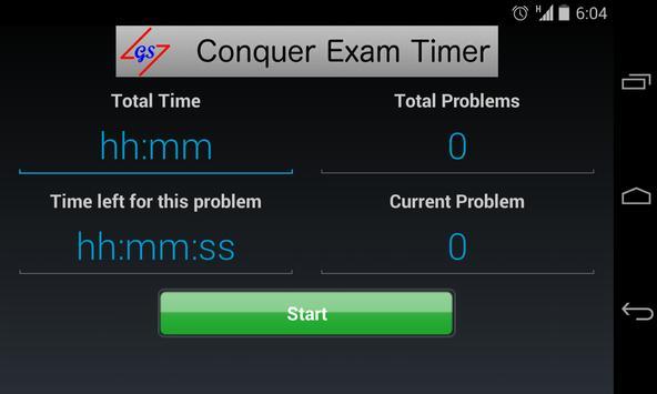 Conquer Exam Timer poster