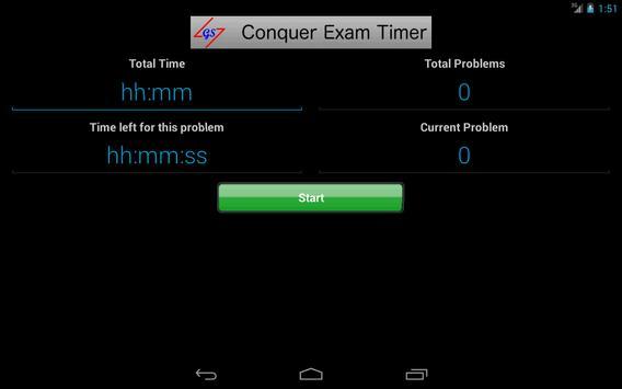 Conquer Exam Timer apk screenshot