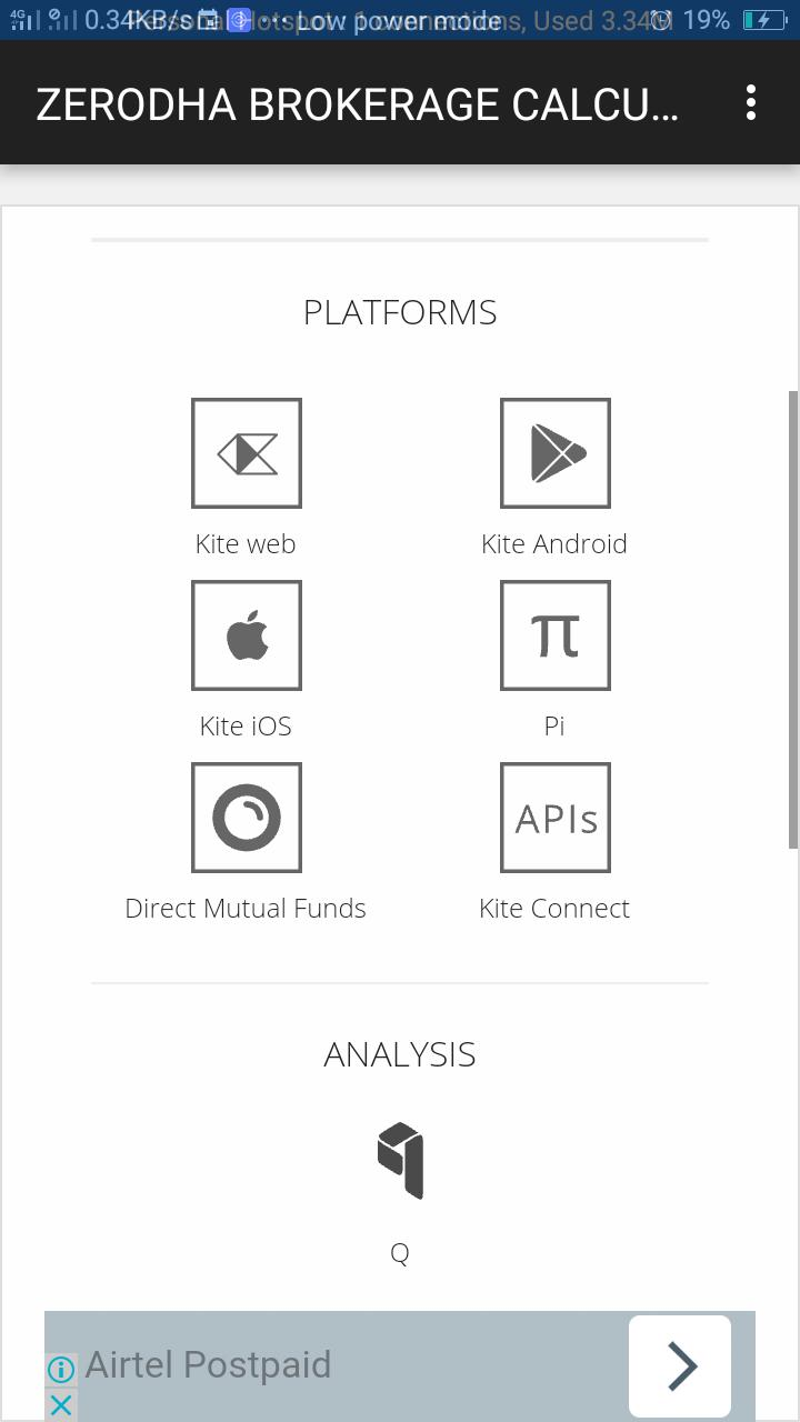 ZERODHA BROKERAGE CALCULATOR for Android - APK Download