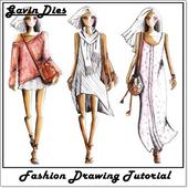 fashion drawing steps icon