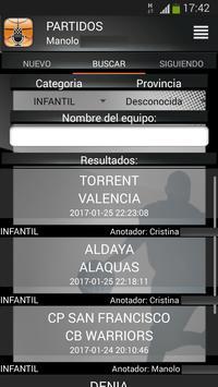 Gobasket (Marcador Online), puntuación en directo screenshot 2