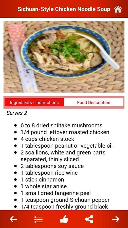 Chinese food recipes descarga apk gratis salud y bienestar chinese food recipes captura de pantalla de la apk forumfinder Gallery