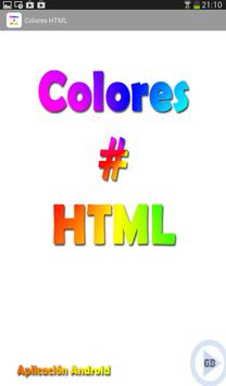 Colores HTML apk screenshot