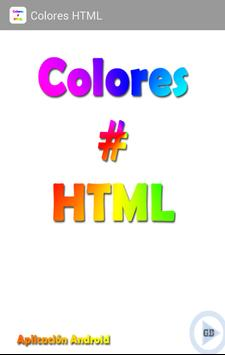 Colores HTML poster