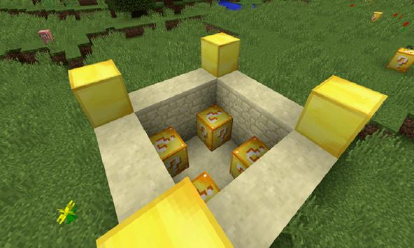 Mod Lucky Gold Blocks for MCPE poster