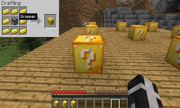 Mod Lucky Gold Blocks for MCPE apk screenshot